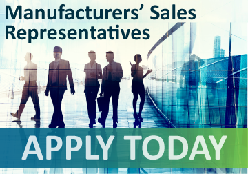 Manufacturers' Sales Representatives Wanted